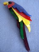 Lea Stein - Tropical Parrrot Brooch by Lea Stein of Paris (SOLD)